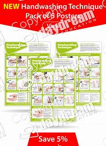 Handwashing Technique Posters  Pack Of 5 Posters