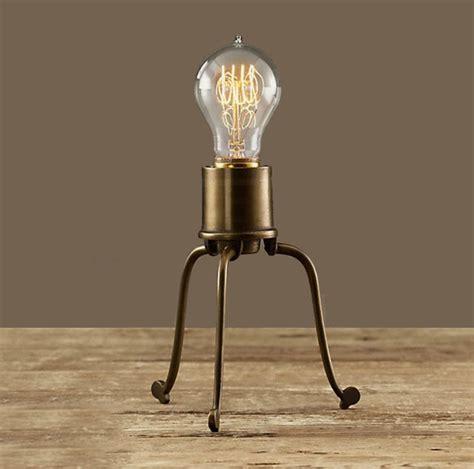antique copper and edison bulb table l contemporary