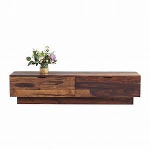 Meuble Bas Bois : meuble tv traditionnel en bois authentico kare design ~ Teatrodelosmanantiales.com Idées de Décoration