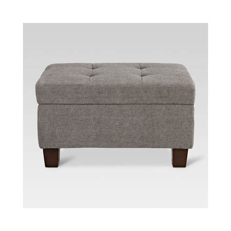 Small Ottoman by Felton Tufted Small Storage Ottoman Pewter Threshold