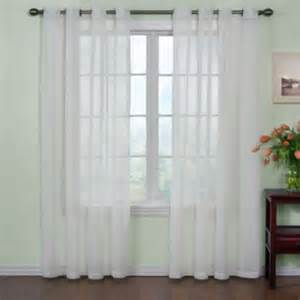 buy voile 95 inch sheer window panels with grommets in