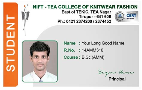 id card template for students id card coimbatore ph 97905 47171 student id card