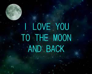 i love you to the moon and back photo print wall art