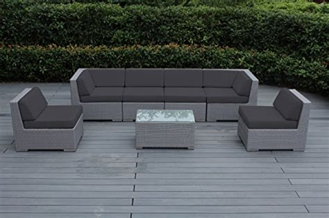 ohana 7 patio wicker sofa set gray for sale