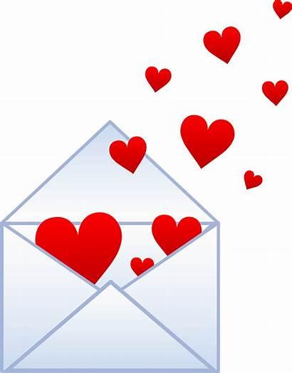 Hearts Clip Letter Envelope Flying Note Valentines