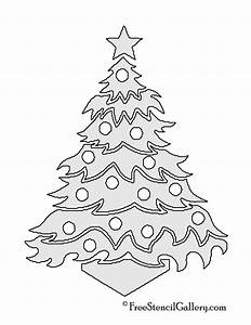 Christmas, Tree, Stencil, 12