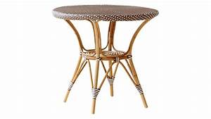 Danielle café table w/glass top - Sika-Design