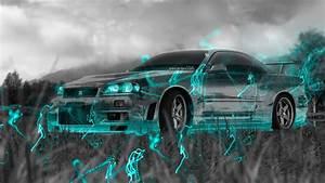 4k, Nissan, Skyline, Gtr, R34, Jdm, Crystal, Nature, Car, 2015