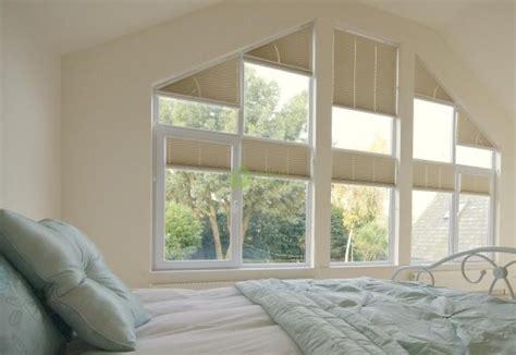 pleated blinds  triangular windows type  domus lumina