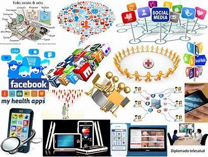 Collage Redes Sociales Sobre Actividad Salud Enfermedad