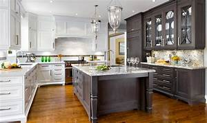 20 kitchens with stylish two tone cabinets With kitchen cabinet trends 2018 combined with how to make vinyl stickers