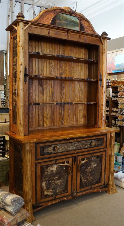 lpostrustics adirondack rustic bookcase hutch made with reclaimed from c dudley