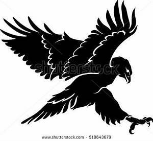 Hawk Silhouette Flying Stock Vector 518643679 - Shutterstock