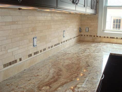 travertine kitchen backsplash travertine tile backsplash great home decor pretty