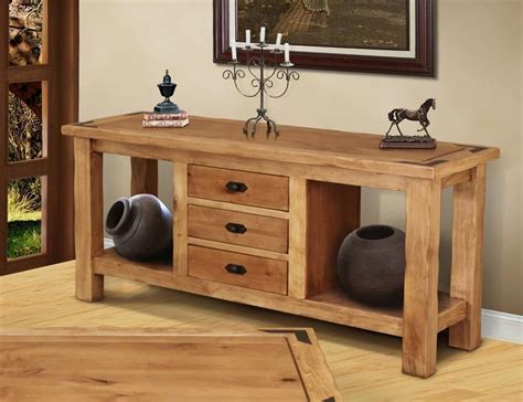 lodge  series rustic console table rustic console