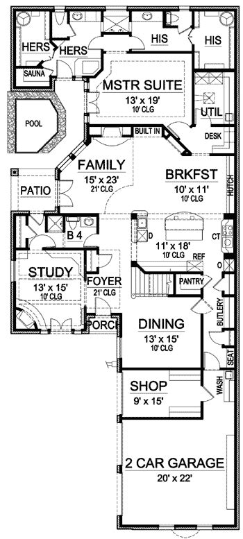 His And Bathroom Floor Plans by Plan 36170tx His And Bathrooms Design House