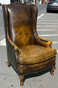 High, Leather, Wingback, Chair, At, 1stdibs
