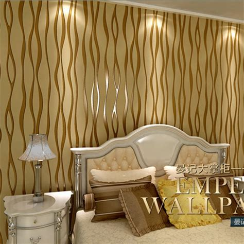 modern fashion curve striped wallpaper  fabric wall
