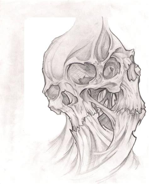 bleeding devil skull tattoo sketch photo   real