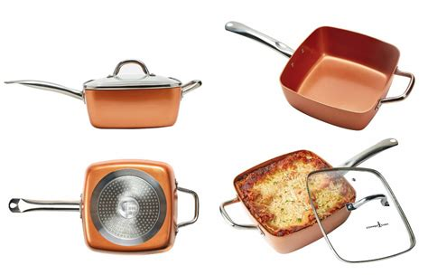 tristar products copper chef xl family sized square pan review  discount