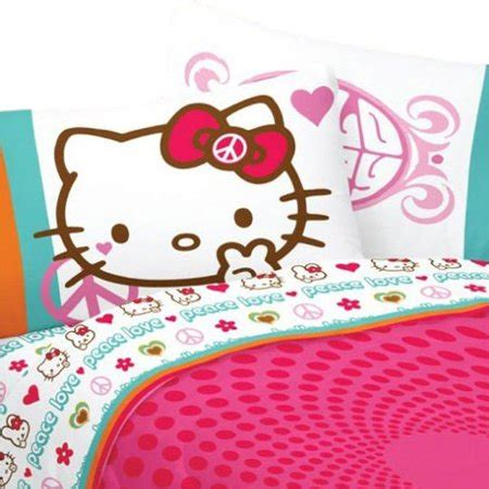 Hello Bedroom Set At Walmart by Hello Bed Sheet Set Sanrio Peace And Bedding