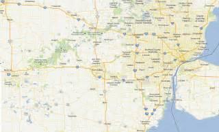 Southeast Michigan Map