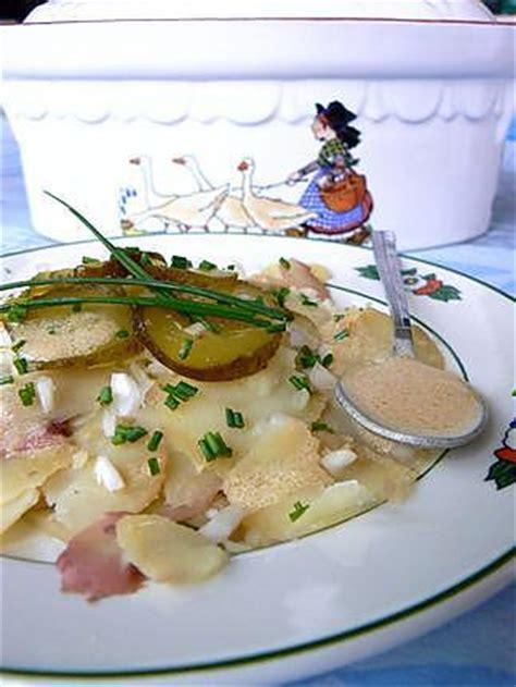 recette de salade de pommes de terre alsacienne ou
