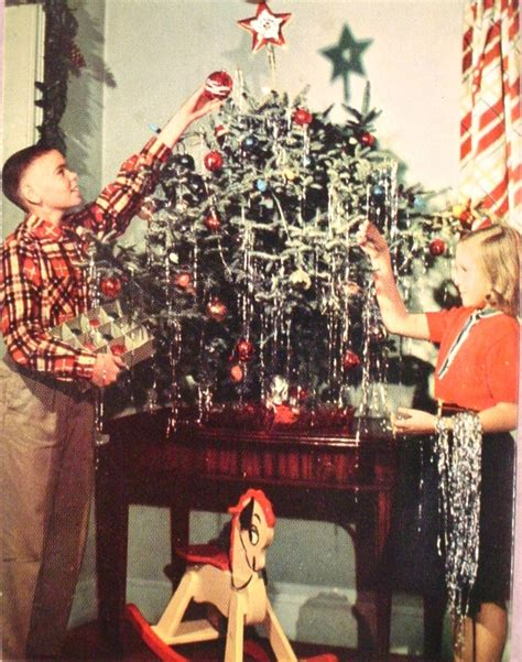 christmas tree decorating vintage style thrifty