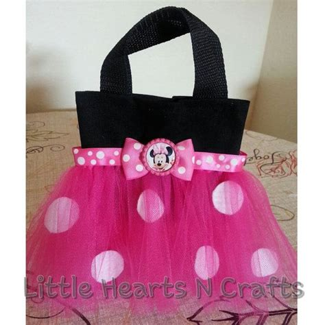 minnie mouse inspired polka dot tutu purse  littleheartsncrafts  minnie mouse bag