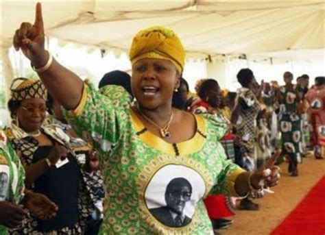 Oppah Muchinguri, leader of the Women's League of ZANU-PF ...