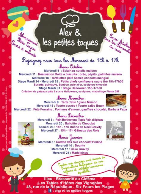 atelier de cuisine pour enfants site officiel de la mairie de six fours les plages