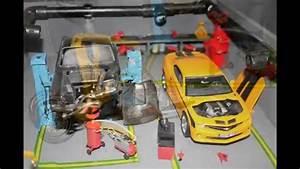 Garage Pour Voiture : maquette garage pour voiture 1 24 youtube ~ Voncanada.com Idées de Décoration