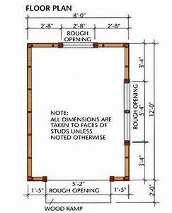 8 U00d712 Storage Shed Plans  U0026 Blueprints For Building A