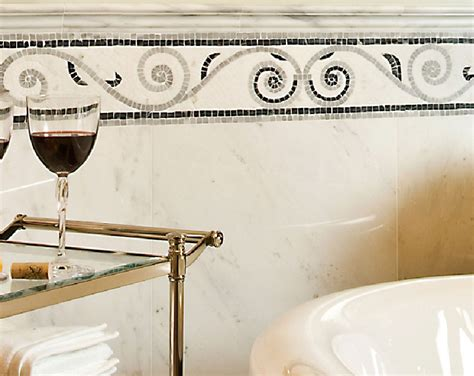 Mosaic Border Tiles Bathrooms by Bathroom Border 2017 Grasscloth Wallpaper