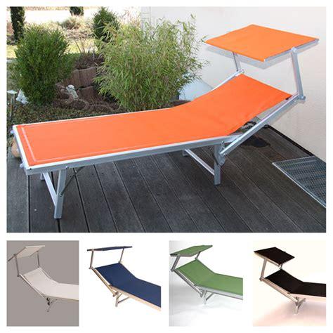 transat italien avec pare soleil alu chaise longue transat transat transat avec pare soleil cr 232 me vert bleu orange ebay