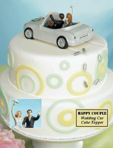 happy couple car cake topper wedding favors unlimited