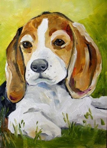 simple painting  dogs acrylic google search beagle