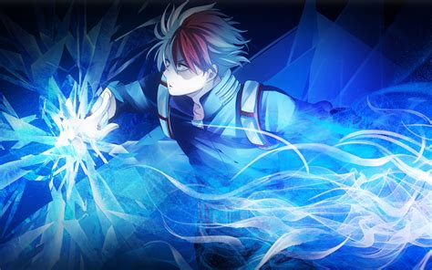 wallpapers  shouto todoroki neon manga
