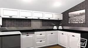 Cuisine Blanche Et Noire : cuisine blanche et noire qx23 jornalagora ~ Nature-et-papiers.com Idées de Décoration