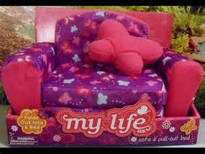 Walmart Futon Beds by Review Of My Life As Sofa Amp Pull Out Bed For Dolls Youtube