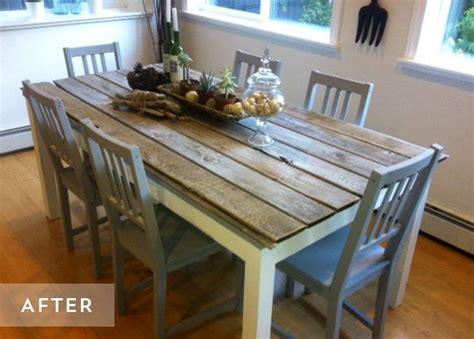 relooker une table de cuisine diy relooker une table avec des lames de parquet