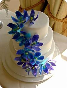 Wedding cakes, Blue and and Dendrobium orchids on Pinterest