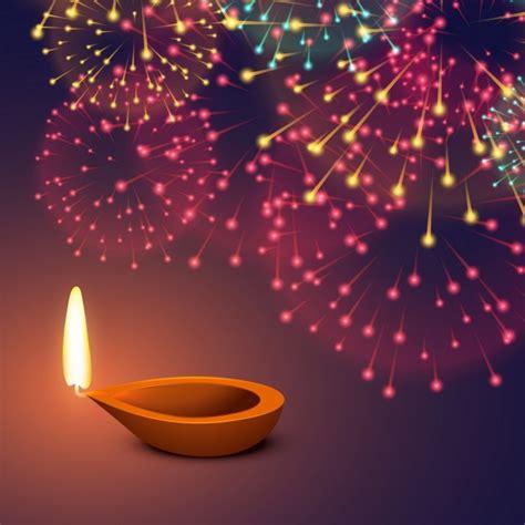 diwali background  fireworks vector