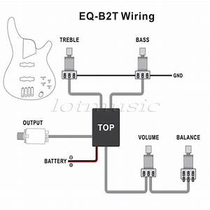 Genuine Belcat 2 Band Active Eq Preamp Circuit For Bass