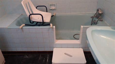 baignoire siege ouverture de baignoire avec installation d 39 un siège de