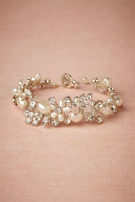 jewelry pearl bracelet  bhldn  weddbook