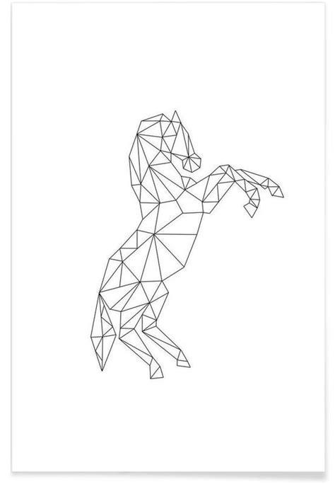 Geometric Horse as Premium Poster by RK Design   JUNIQE