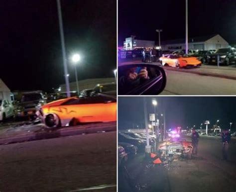 bellingham driver crashes lamborghini  iowa street