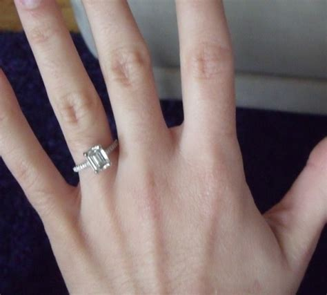 Emerald/ and rectangular cut diamonds or gems *Post pics!!* :)   Weddingbee