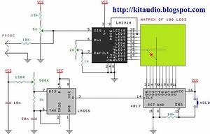100 Led U2019s Solid State Oscilloscope Circuit Schematic With